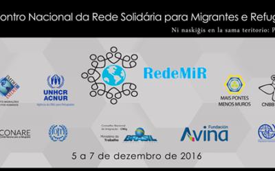 XII Encontro Nacional da Rede Solidária para Migrantes e Refugiados acontece em Brasília entre os dias 5 e 7 de dezembro