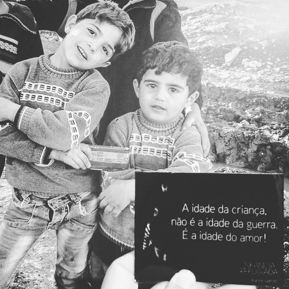 Exposição no Ceará mostra vida de crianças refugiadas