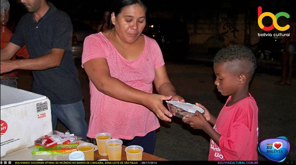 Imigrantes bolivianos socorrem vítimas de incêndio em São Paulo