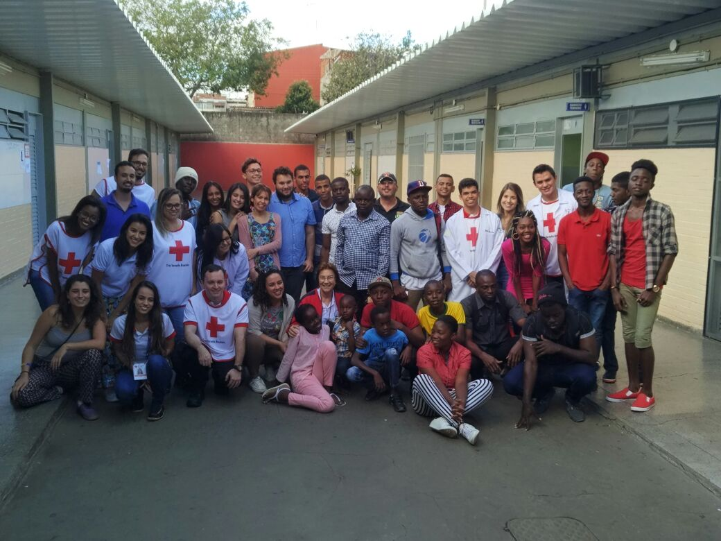 Cruz Vermelha, Observatório de Direitos Humanos do IESB e Instituto Migrações e Direitos Humanos promovem ação de saúde para Refugiados e Imigrantes no DF