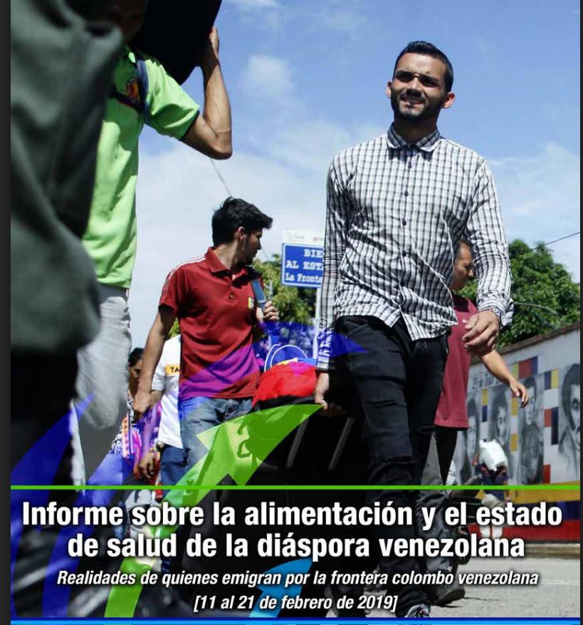 Informe sobre la alimentación y el estado de salud de la diáspora venezolana