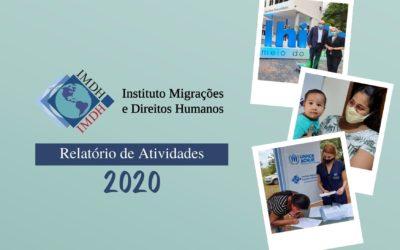 IMDH apresenta seu relatório de atividades de 2020