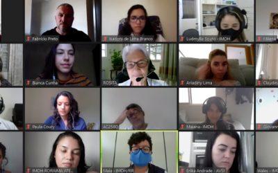 Equipes do IMDH e da AVSI realizam encontro virtual de integração