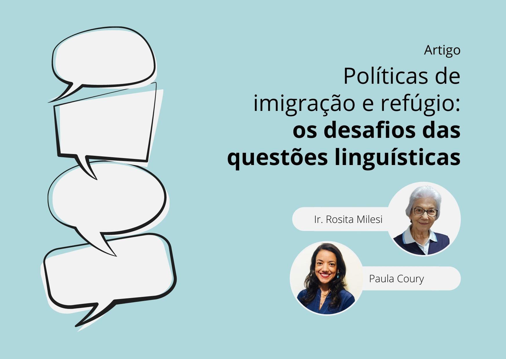 Políticas de imigração e refúgio: os desafios das questões linguísticas