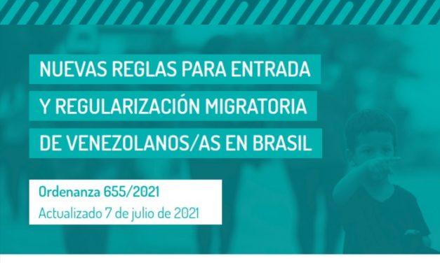 Novas regras para entrada e regularização migratória de venezuelanos no Brasil