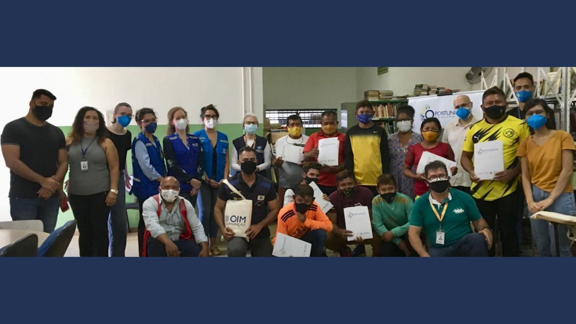 Indígenas venezuelanos Warao recebem certificação de capacitação em língua portuguesa